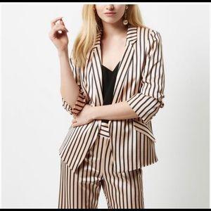 🔥🔥River Island satin stripe blazer